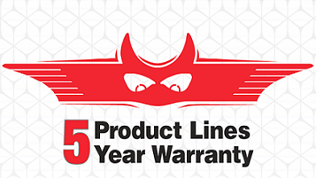 5 Product Lines with 5 Year Warranties