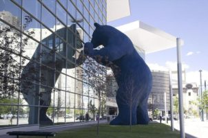 Big Blue Bear in Denver